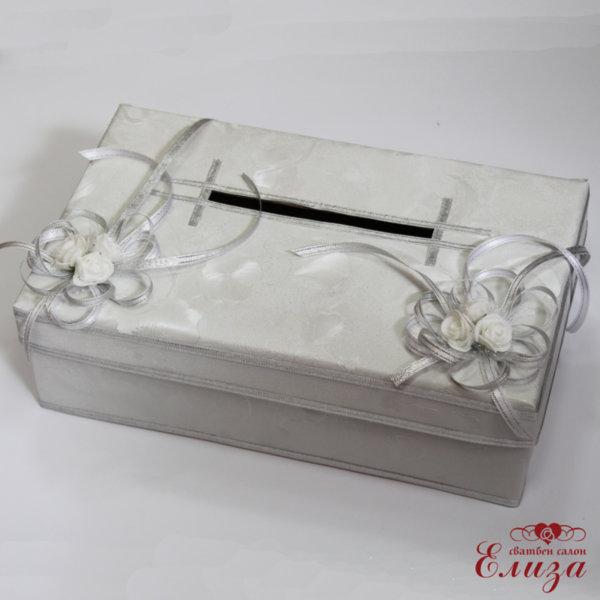 Правоъгълна сватбена кутия за пари